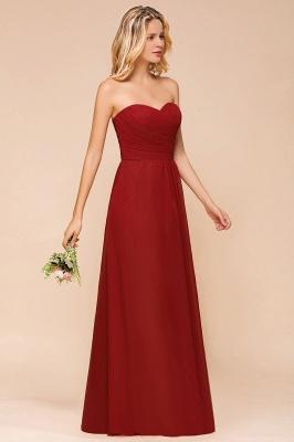 Brautjungfernkleider Lang Rot | Chiffon Kleider für Brautjungfern_6