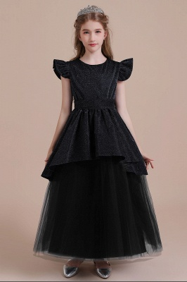 Flower Girl Dress Long Black | Flower girl dresses cheap