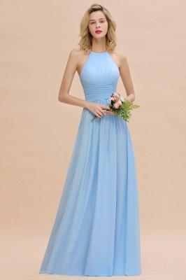 Brautjungfernkleider Lang Heller Blau | Kleider für Brautjungfern Günstig_5
