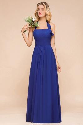 Känig Blau Brautjungfernkleider Lang Günstig   Hochzeitspartykleider Chiffon_4
