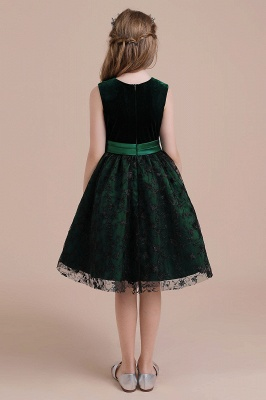 Girl flower girl dress green | Cheap flower girl dresses_3