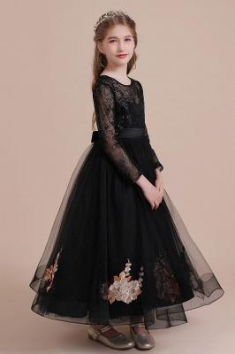 Flower girl festive dress wedding | Black flower girl dresses cheap_8