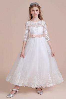 Blumenmädchen Kleid Langarm | Blumenmädchenkleider für Kinder Hochzeit_7