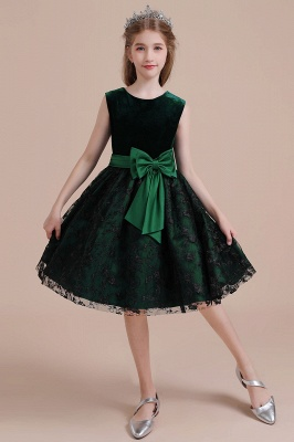 Girl flower girl dress green | Cheap flower girl dresses_8
