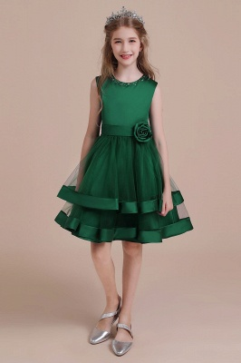 Green Flower Girl Dresses For Child | Flower girl dress long