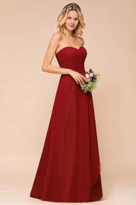 Brautjungfernkleider Lang Rot | Chiffon Kleider für Brautjungfern_7