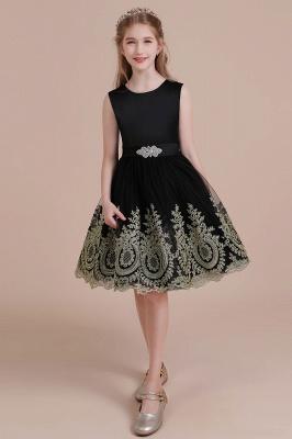Black flower girl dresses cheap | Flower girl dress tulle_5