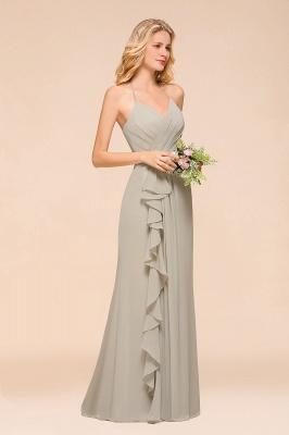Elegante Brautjungfernkleider Lang Günstig | Schlichtes Hochzeitspartykleid_6