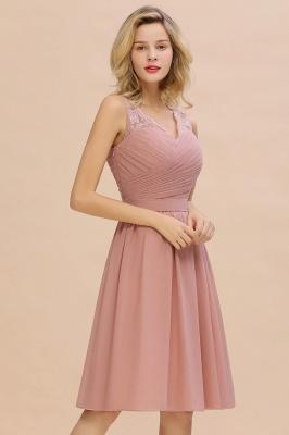 Rosa Cocktailkleider Partykleider Online | Chiffon Abendkleid Kurz Günstig_7