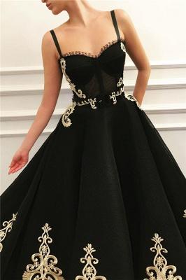 Elegante Abendkleider Lang Schwarz | Abiballkleider mit Spitze_2
