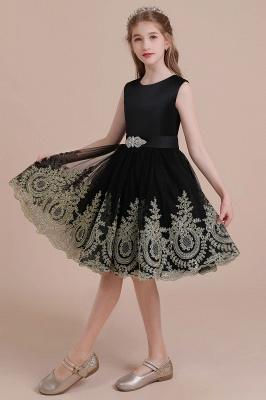 Black flower girl dresses cheap | Flower girl dress tulle_6
