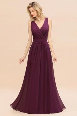 Purpur Brautjungfernkleider Lang Günstig   Hochzeitspartykleider Online_7