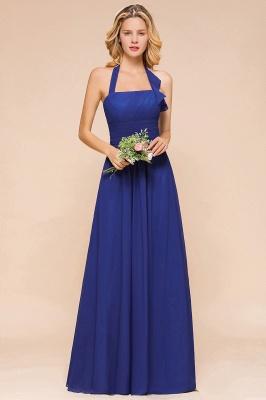 Känig Blau Brautjungfernkleider Lang Günstig   Hochzeitspartykleider Chiffon_1