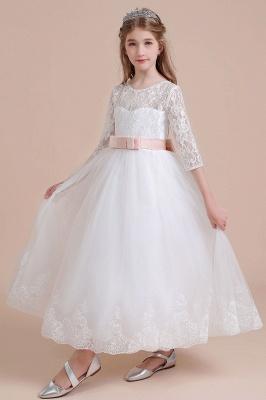 Blumenmädchen Kleid Langarm | Blumenmädchenkleider für Kinder Hochzeit_9