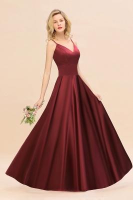 Schöne Brautjungfernkleider Lang Rot   Brautjungfernkleid Günstig_7