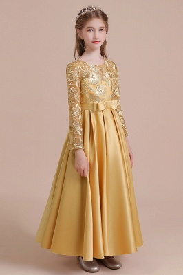 Gold Flower Girl Dresses Cheap | Flower girl dress long sleeve_7
