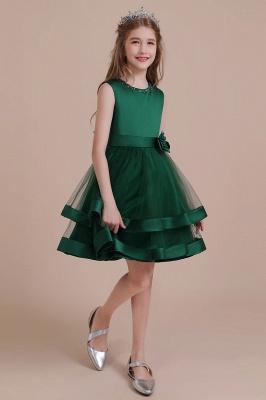 Grüne Blumenmädchenkleider Für Kind  | Blumenmädchen Kleid Lang_5