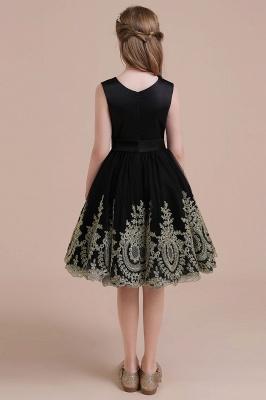 Black flower girl dresses cheap | Flower girl dress tulle_3
