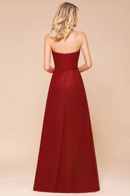 Brautjungfernkleider Lang Rot | Chiffon Kleider für Brautjungfern_3