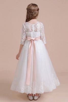 Blumenmädchen Kleid Langarm | Blumenmädchenkleider für Kinder Hochzeit_3