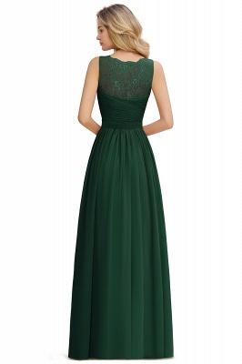 Schlichte Brautjungfernkleider Lang Chiffon | Rosa Kleid für Brautjungfern_18