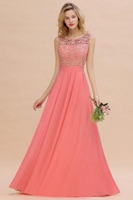 Schlichte Abendkleider Günstig   Coral Brautjungfernkleider Lang_6