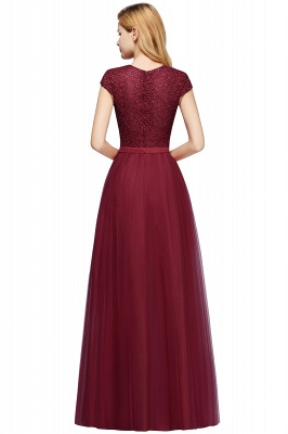 Designer evening dresses wine red | Prom dresses with lace_14