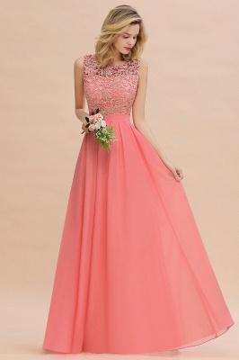 Schlichte Abendkleider Günstig   Coral Brautjungfernkleider Lang_4