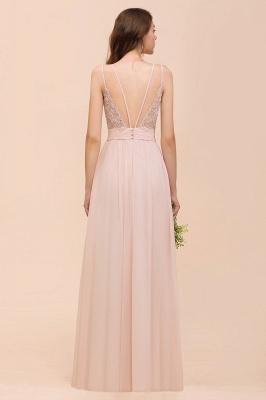 Peach Brautjungfernkleider Lang Günstig   Kleider Für Brautjungfern_3