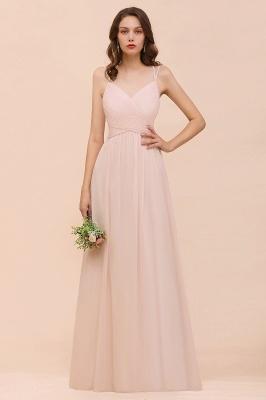 Peach Brautjungfernkleider Lang Günstig   Kleider Für Brautjungfern_1