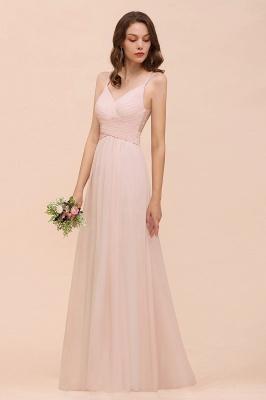 Peach Brautjungfernkleider Lang Günstig   Kleider Für Brautjungfern_7