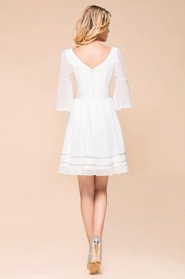 Weiße Brautjungfernkleider mit Ärmel | Kurzes Brautjungfernkleid_3