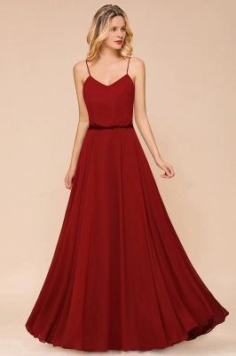 Rote Lange Brautjungfernkleider | Schöne Hochzeitspartykleider Günstig_6