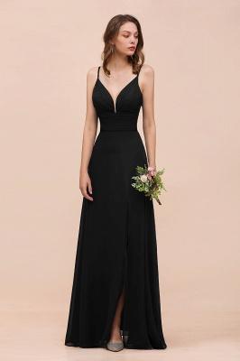 Schwarze Brautjungfernkleider Lang Günstig   Kleid für Brautjungfern_9