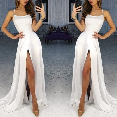 Simple evening dresses long white | Buy evening wear online_2