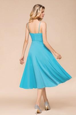 Blaue Brautjungfernkleider Kurz | Günstige Hochzeitspartykleider Online_3
