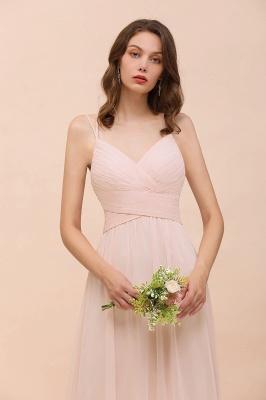 Peach Brautjungfernkleider Lang Günstig   Kleider Für Brautjungfern_9