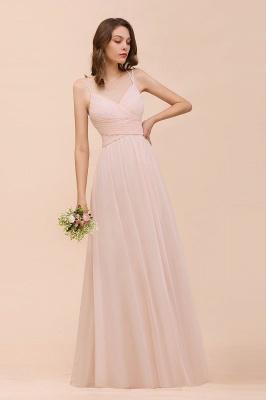 Peach Brautjungfernkleider Lang Günstig   Kleider Für Brautjungfern_6