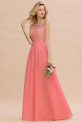 Schlichte Abendkleider Günstig   Coral Brautjungfernkleider Lang_7