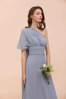 Günstige Brautjungfernkleider Grau | Brautjungfenrkleid Lang Chiffon_13