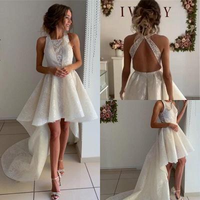 Fashion Brautkleider Kurz Vorne Lang Hinter | Hochzeitskleid mit Spitze_2