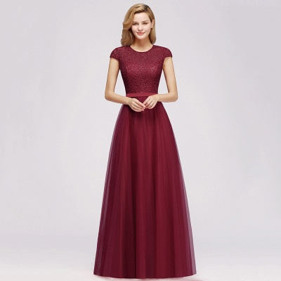 Designer evening dresses wine red | Prom dresses with lace_10