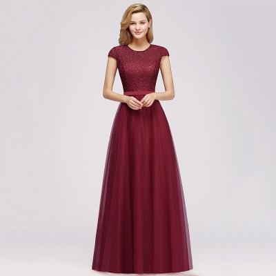 Designer Abendkleider Weinrot | Abiballkleider mit Spitze_10