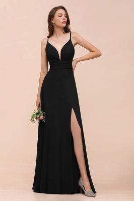 Schwarze Brautjungfernkleider Lang Günstig   Kleid für Brautjungfern_4
