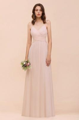 Peach Brautjungfernkleider Lang Günstig   Kleider Für Brautjungfern_2