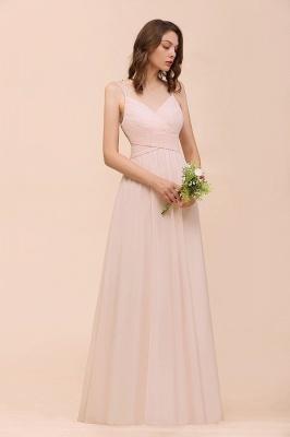 Peach Brautjungfernkleider Lang Günstig   Kleider Für Brautjungfern_5