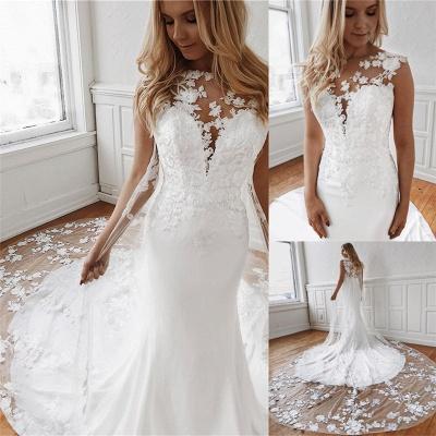 Elegante Brautkleider Mit Spitze | Hochzeitskleid Meerjungfrau Günstig Online_3
