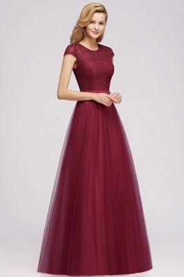 Designer evening dresses wine red | Prom dresses with lace_8