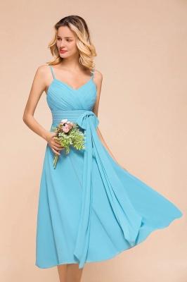 Blaue Brautjungfernkleider Kurz | Günstige Hochzeitspartykleider Online_8