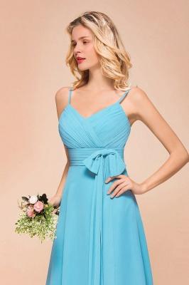 Blaue Brautjungfernkleider Kurz | Günstige Hochzeitspartykleider Online_9